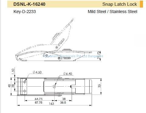 Draw Latch Lockable - DSNL-K-16240 Viswanath Electricals Pvt